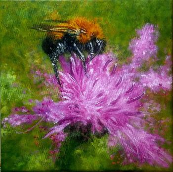 Bee in acrylics
