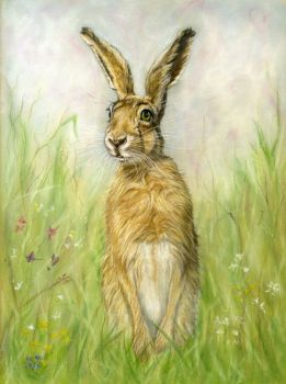 """IN STOCK - """"Whimsical Hare"""""""