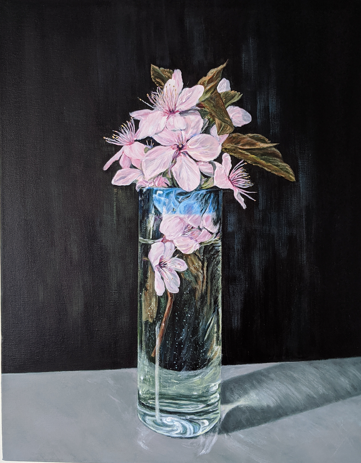Spring Blossoms - acrylics on canvas