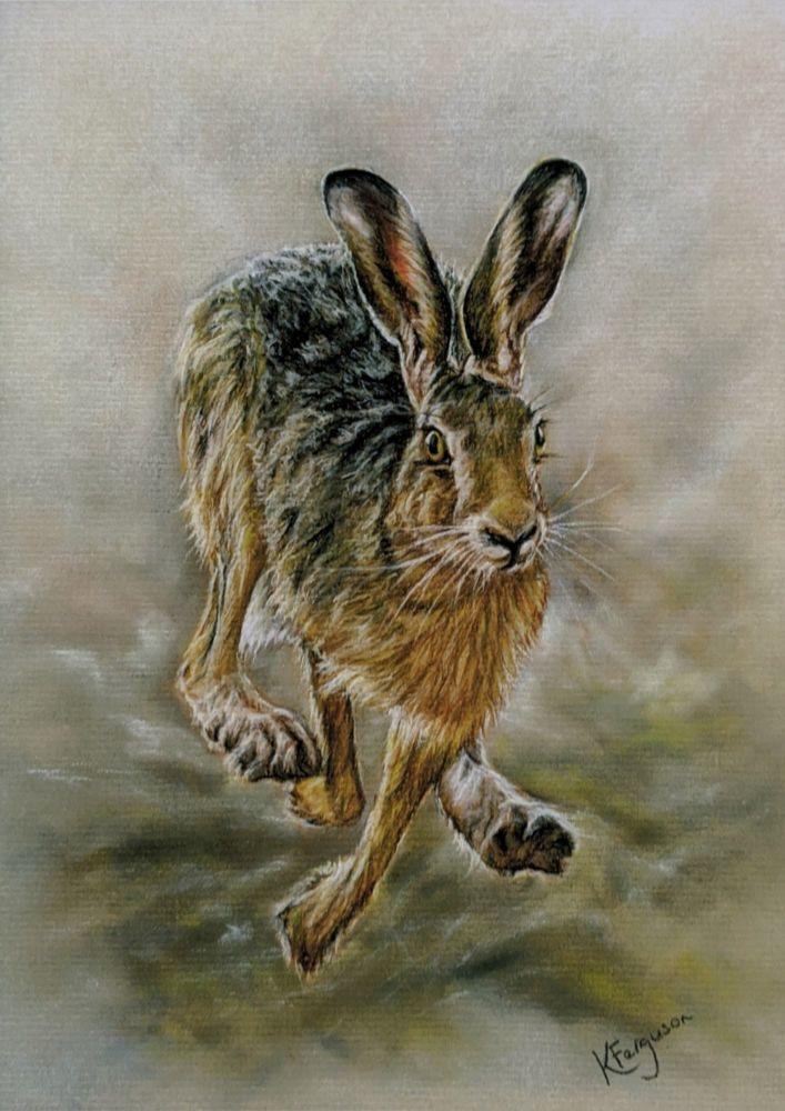 Running Hare Ltd edition giclee print