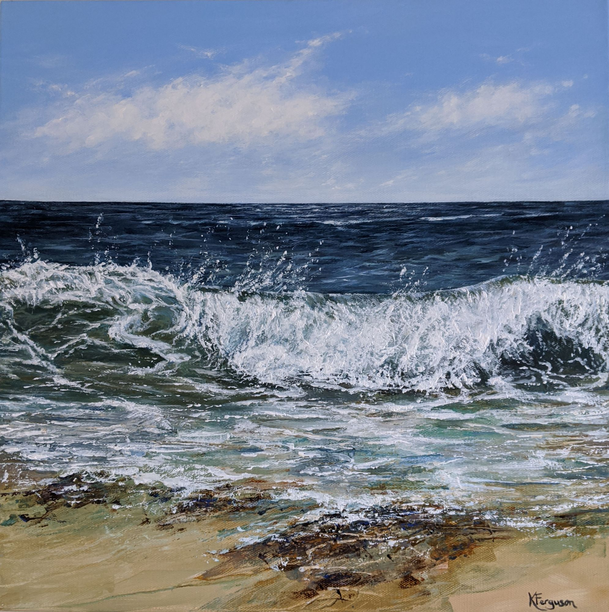 Acrylics seascape