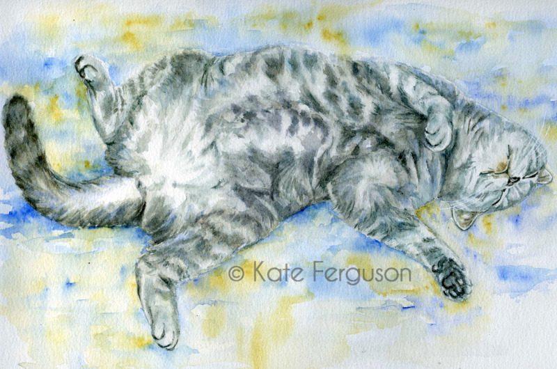 Watercolour portrait - Bertie