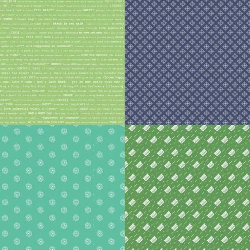 Riley Blake Fabric ~ Modern Mini's ~ Fat Quarter Panel Green