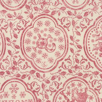 Moda Fabrics ~ Joyeux Noel Linen ~  Atelier Du Pere Noel in Pearl