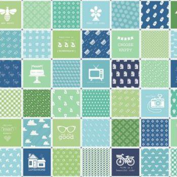 Riley Blake Fabric ~ Modern Mini's ~ Patchwork Panel Green