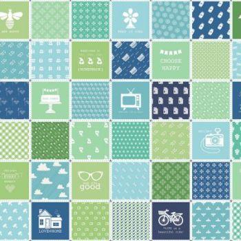 Riley Blake Fabric ~ Modern Mini's ~ Patchwork Panel Green