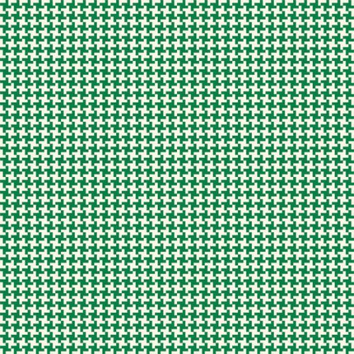 Penny Rose Fabrics ~ Hope Chest ~ Houndstooth Green