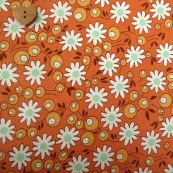 Riley Blake Fabric ~ Flower Patch ~ Flower Berries Orange