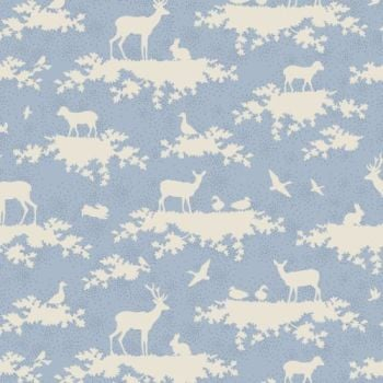 Tilda Fabric ~ Forest Light Blue