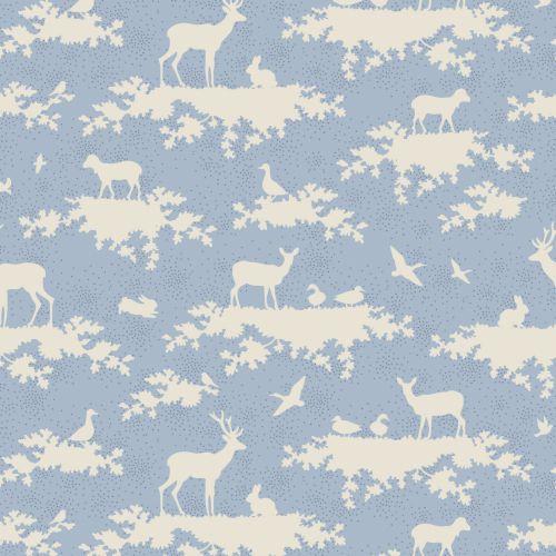 Tilda Fabric ~ Forest Light Blue