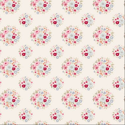 Tilda Fabric ~ Thula Red Pink