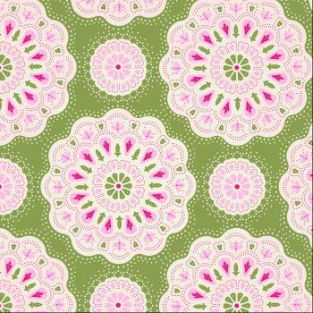 Tilda Fabric ~ Doilies Green