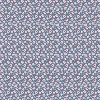 Tilda Fabric ~ Celia Slate Blue