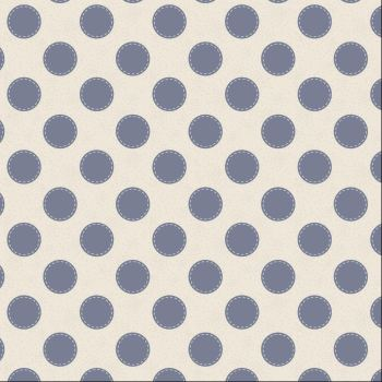 Tilda Fabric ~ Sewn Spot Dove White