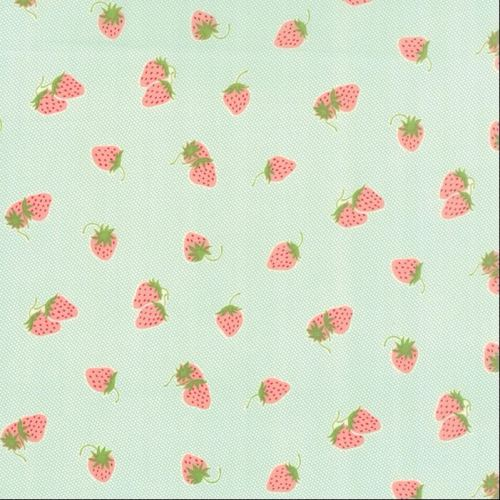 Moda Fabrics ~ Hello Darling ~ Strawberries Aqua