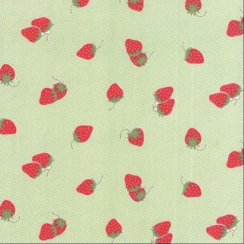 Moda Fabrics ~ Hello Darling ~ Strawberries Green
