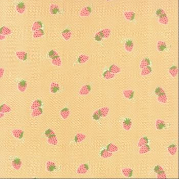 Moda Fabrics ~ Hello Darling ~ Strawberries Orange