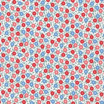 Robert Kaufman Fabrics ~ Naptime 2 ~ Circle Flower Camelia