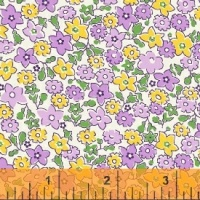 Windham Fabrics ~ Storybook Vacation ~ Floral Purple & Yellow