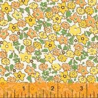 Windham Fabrics ~ Storybook Vacation ~ Floral Yellow & Orange