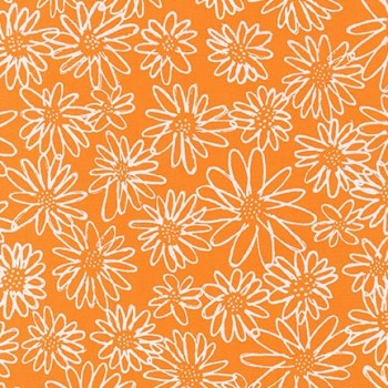 Robert Kaufman Fabrics ~ Blueberry Park ~ Scruffy Daisy in Goldfish