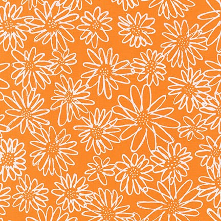 Robert Kaufman Fabrics ~ Blueberry Park ~ Scruffy Daisy in Goldfish