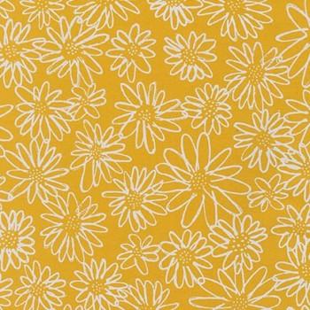 Robert Kaufman Fabrics ~ Blueberry Park ~ Scruffy Daisy in Grellow