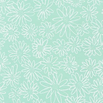 Robert Kaufman Fabrics ~ Blueberry Park ~ Scruffy Daisy in Ice Frappe