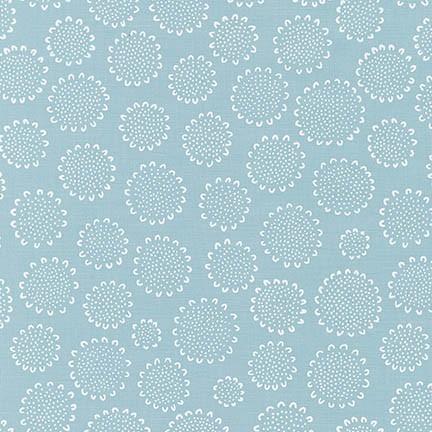 Robert Kaufman Fabrics ~ Blueberry Park ~ Sunflower in Fog