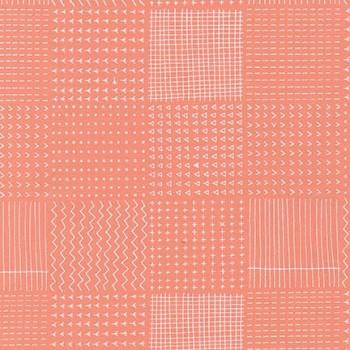 Robert Kaufman Fabrics ~ Blueberry Park ~ Flowerbed in Creamsicle