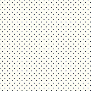 Riley Blake ~ Basics ~ Swiss Dot Navy on Cream