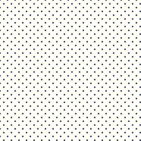 Riley Blake ~ Le Creme Basics ~ Swiss Dot Navy on Cream