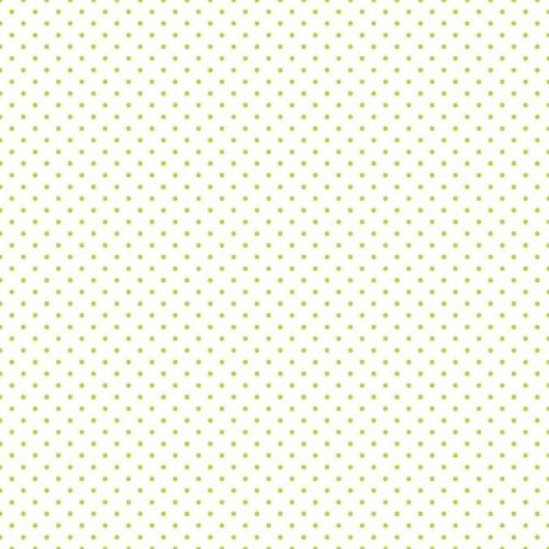 Riley Blake ~ Le Creme Basics ~ Swiss Dot Lime on White