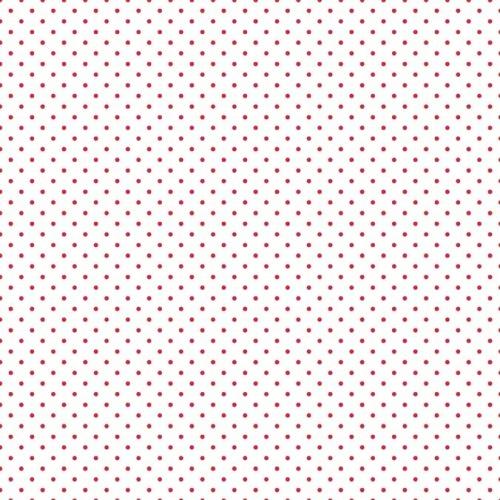 Riley Blake ~ Le Creme Basics ~ Swiss Dot Red on White