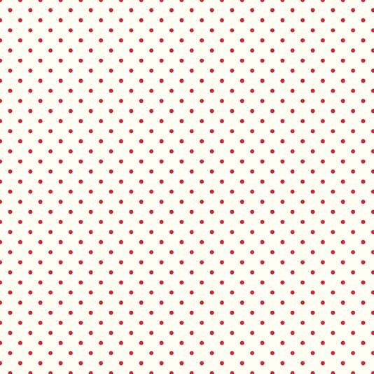 Riley Blake ~ Swiss Dot Red on Cream