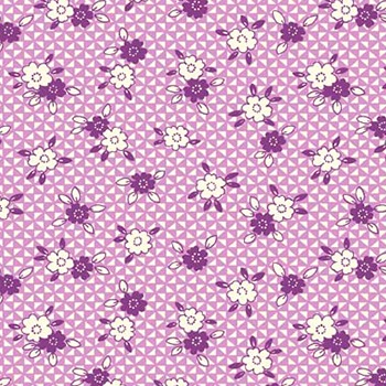 P & B Textiles ~ Toy Chest Florals ~ Patchwork Posies Lilac