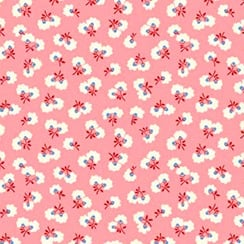 P & B Textiles ~ Toy Chest Florals ~ Blooms Pink