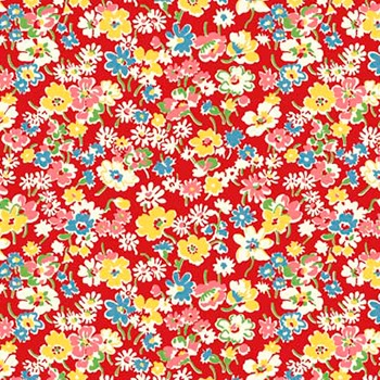 P & B Textiles ~ Toy Chest Florals ~ Floral Red