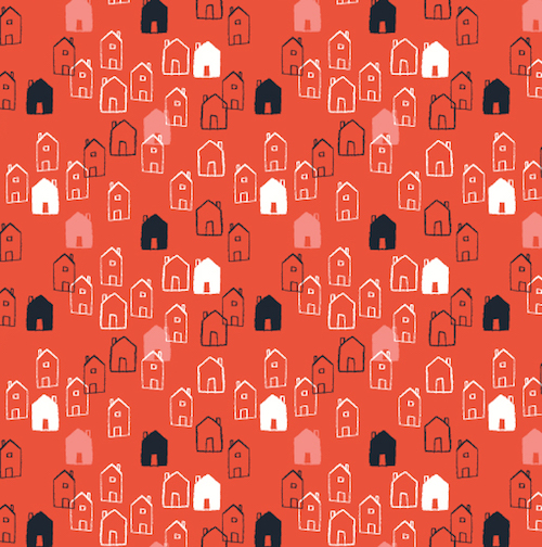 Dashwood Studio Fabric ~ Mori Girls ~ Houses