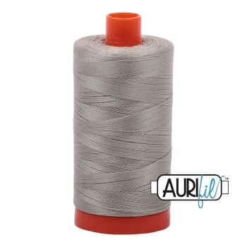 Aurifil ~ 50 wt Cotton ~ 5021 ~ Light Grey/Khaki Large Spool
