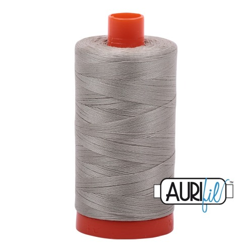 Aurifil ~ 50 wt Cotton ~ 5021 ~ Light Grey/Khaki