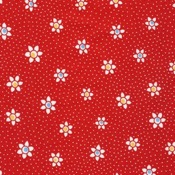 Robert Kaufman Fabrics ~ Just One Of Those Days ~ Flower Dots Red