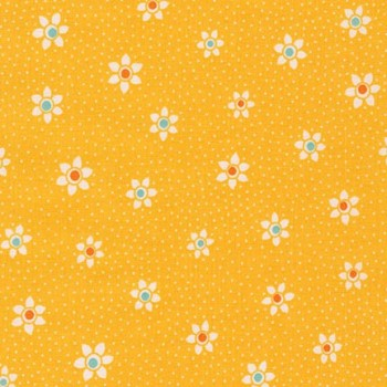 Robert Kaufman Fabrics ~ Just One Of Those Days ~ Flower Dots Screamin' Yellow