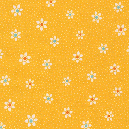 Robert Kaufman Fabrics ~ Just One Of Those Days ~ Flower Dots Screamin' Yel