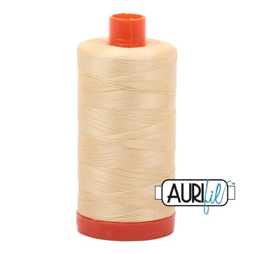 Aurifil ~ 50 wt Cotton ~ 2105 ~ Creamy Yellow
