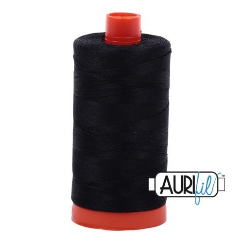 Aurifil ~ 50 wt Cotton ~ 2692 ~ Black