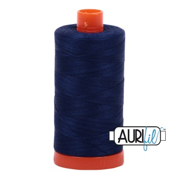 Aurifil ~ 50 wt Cotton ~ 2784 ~ Dark Navy Blue Large Spool