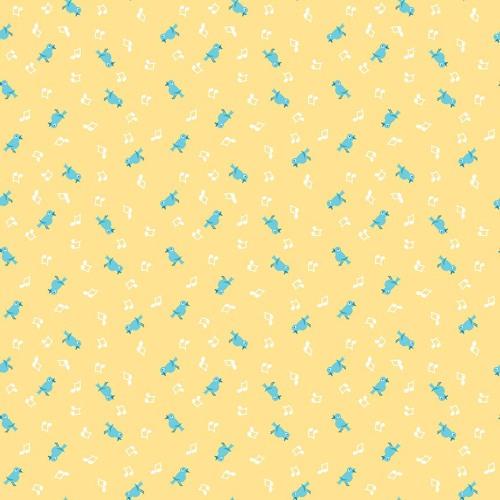 Penny Rose Fabrics ~ The Shabby Strawberry ~ Birds Yellow
