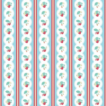 Penny Rose Fabrics ~ The Shabby Strawberry ~ Stripe Blue
