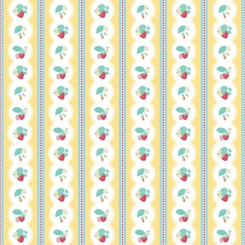 Penny Rose Fabrics ~ The Shabby Strawberry ~ Stripe Yellow